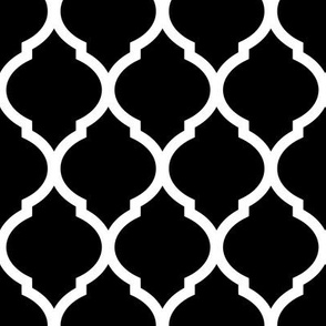 Black Moroccan Lattice