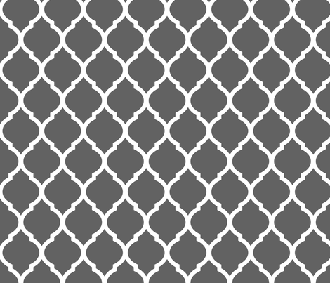 Charcoal Moroccan Lattice fabric by sweetzoeshop on Spoonflower - custom fabric