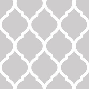 Gray Moroccan Lattice