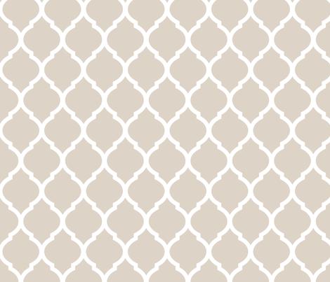 Linen Beige Moroccan Lattice fabric by sweetzoeshop on Spoonflower - custom fabric