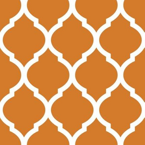 Burnt Orange Moroccan Lattice