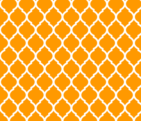 Orange Moroccan Lattice Wallpaper Sweetzoeshop Spoonflower