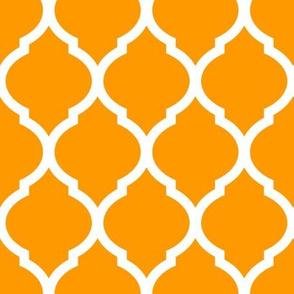 Orange Moroccan Lattice