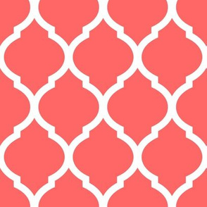 Coral Moroccan Lattice