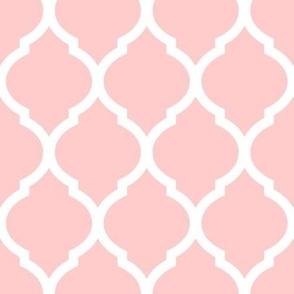 Light Pink Moroccan Lattice