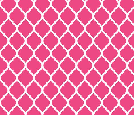 Hot Pink Moroccan Lattice fabric by sweetzoeshop on Spoonflower - custom fabric