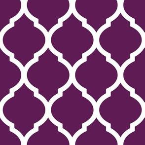 Plum Purple Moroccan Lattice