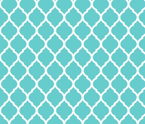 turquoise moroccan lattice wallpaper - sweetzoeshop - spoonflower
