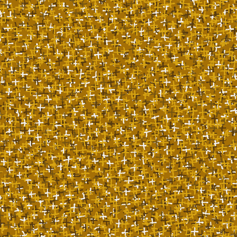 plus two - honey yellow fabric by weavingmajor on Spoonflower - custom fabric