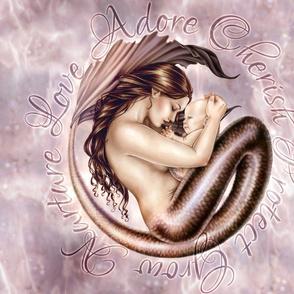Motherhood - Mother and Baby Mermaid