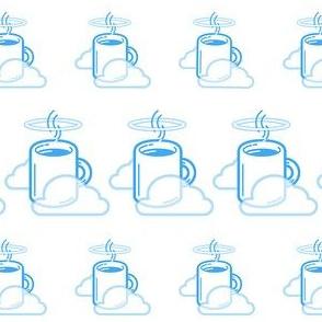 Heavenly coffee in cerluean