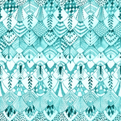 Owl Feathers Teal
