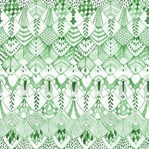 Owl Feathers GREEN