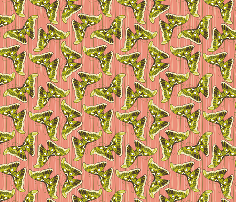 Asian butterfly fabric by cjldesigns on Spoonflower - custom fabric