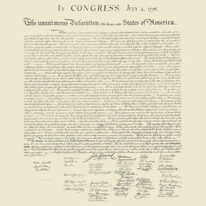"8x8"" (swatch size) Declaration of Independence (mini)"