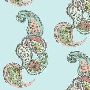 Duck Egg Paisley