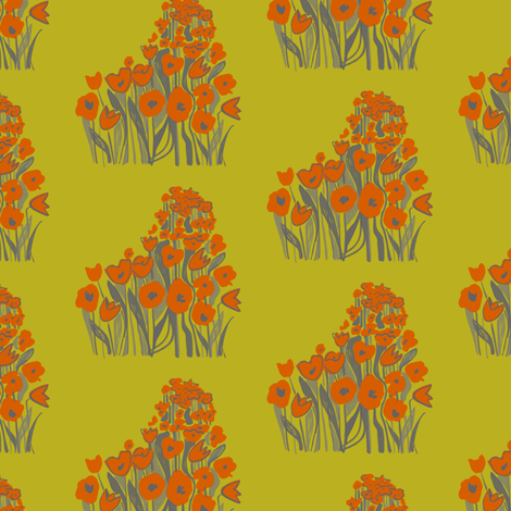 tulip march - red & chartreuse fabric by sara_smedley on Spoonflower - custom fabric