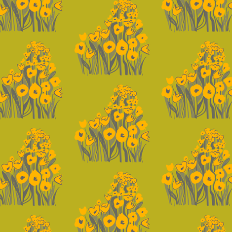 tulip march- yellow & chartreuse fabric by sara_smedley on Spoonflower - custom fabric