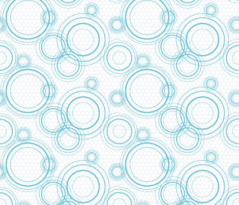 Water rings fabric by linkolisa on Spoonflower - custom fabric