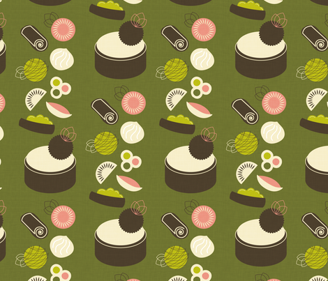 Falling for Dim Sum fabric by happyprintsshop on Spoonflower - custom fabric