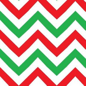 christmas_chevron red white green