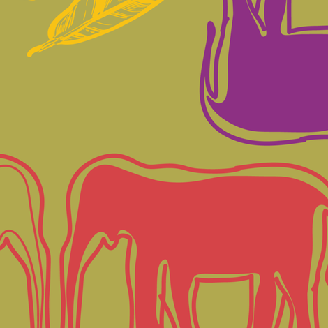 indiansummer_elephantes_tea-03 fabric by luhaddad on Spoonflower - custom fabric