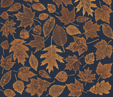 leaf etchings - sunrise colors fabric by weavingmajor on Spoonflower - custom fabric