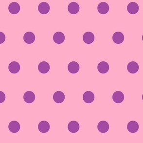 Pink with Purple Polka Dots