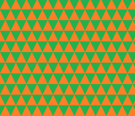 Green and Orange Triangles fabric by bobgreenwade on Spoonflower - custom fabric