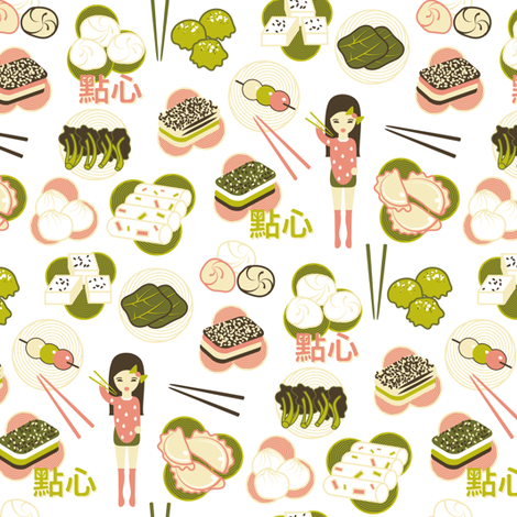 dim sum fabric by ravynka on Spoonflower - custom fabric