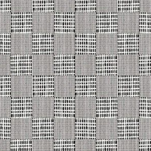 Check Weave - charcoal gray, white