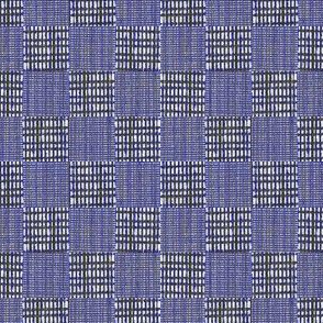 Check Weave - indigo