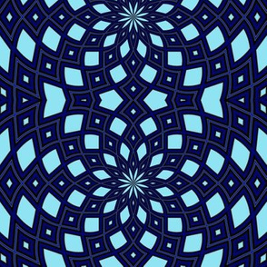Kaleidescope 1257 retrodark r1 k1 sky blue electric blue