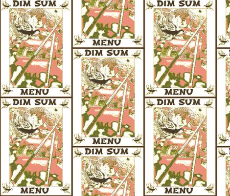 Dim Sum Menu fabric by kimruss@thatcatart on Spoonflower - custom fabric