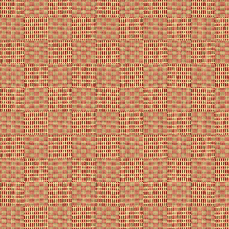 Check weave - pink, beige fabric by materialsgirl on Spoonflower - custom fabric
