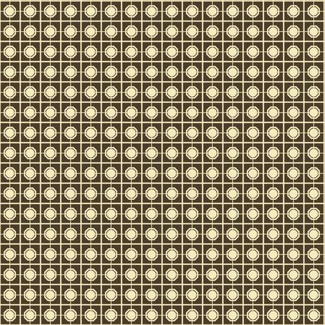 Dim Sum Screen - Cream on Brown Soy fabric by rhondadesigns on Spoonflower - custom fabric