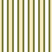 Dim Sum Party Stripe - Narrow Olive Green Ribbons with Cream and White