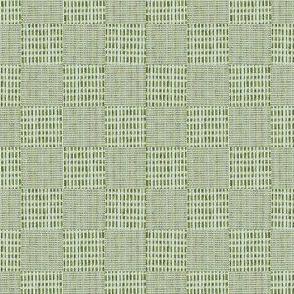 Check Weave - aqua/green