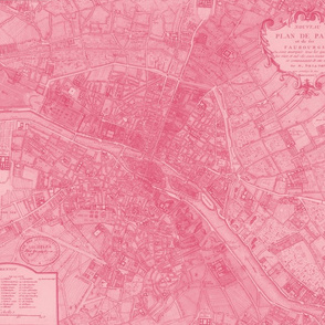 Plan de Paris ~ Paris Map ~ Pink
