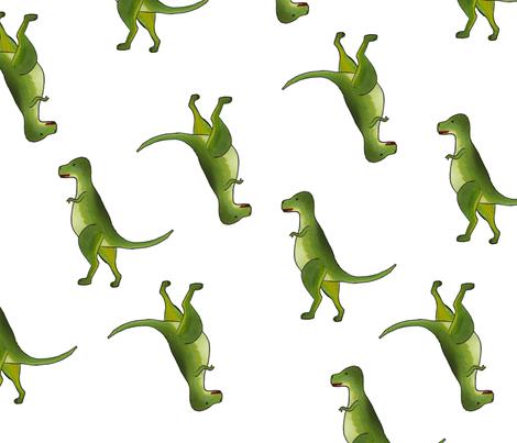 dinosaur on white fabric by izbits_world on Spoonflower - custom fabric