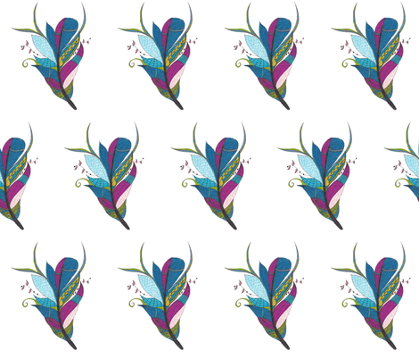 Feather fabric by musebaby on Spoonflower - custom fabric