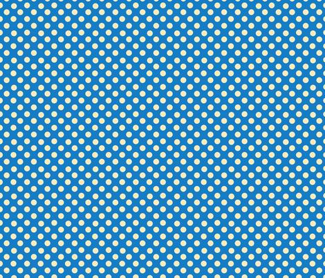 Dino Dots, blue and yellow fabric by karenharveycox on Spoonflower - custom fabric