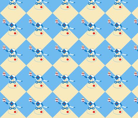 my_favorite_dinosaur_pull_toy_check fabric by karenharveycox on Spoonflower - custom fabric