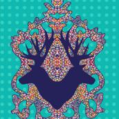 Dancing Leaves Antelope : Novo Morris Collection