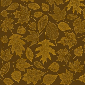 golden leaf etchings