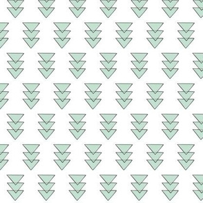 mint triple triangle repeat