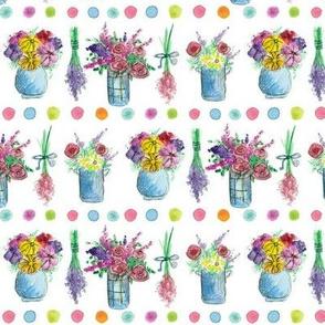 Flower Bouquet Dots