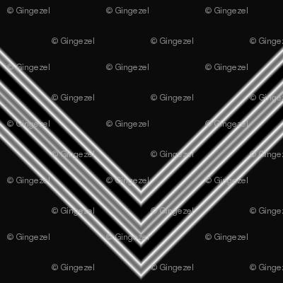 Black and White Chevron © Gingezel™