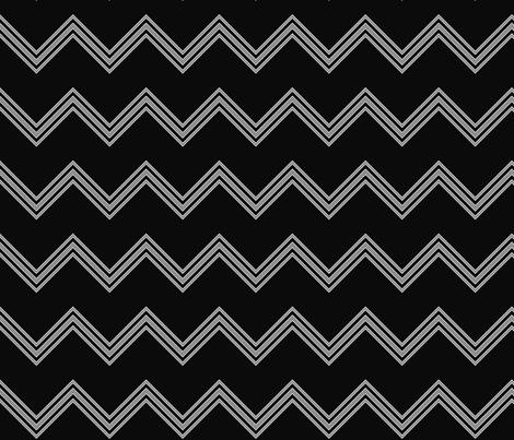 Black and White Chevron © Gingezel™ fabric by gingezel on Spoonflower - custom fabric