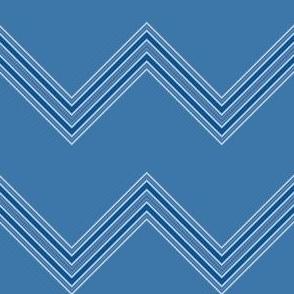Wide Blue Chevron